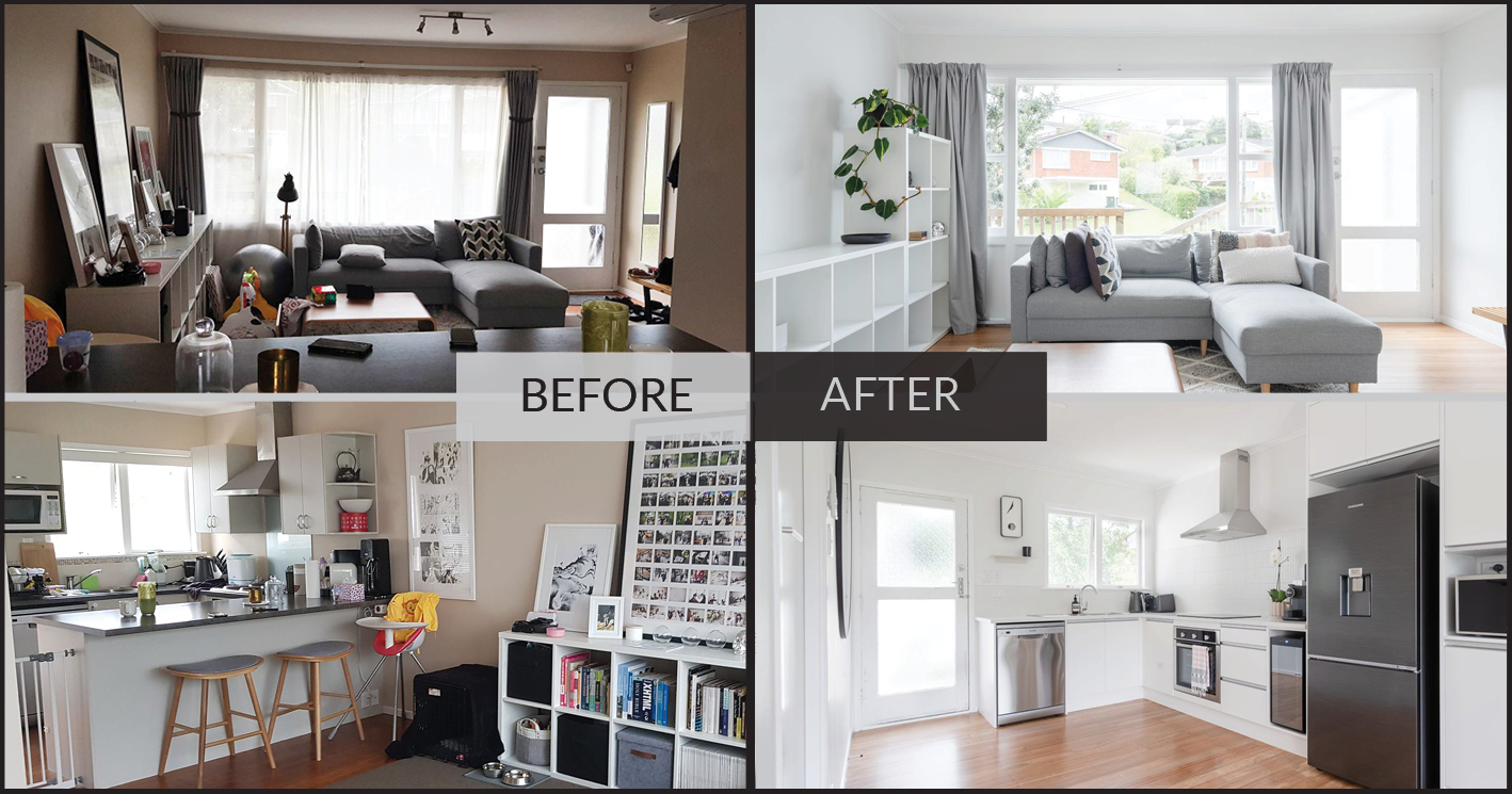 before renovation and after renovation image - east Auckland, Cockle Bay. Another great renovation by Maintain to profit, south east Auckland