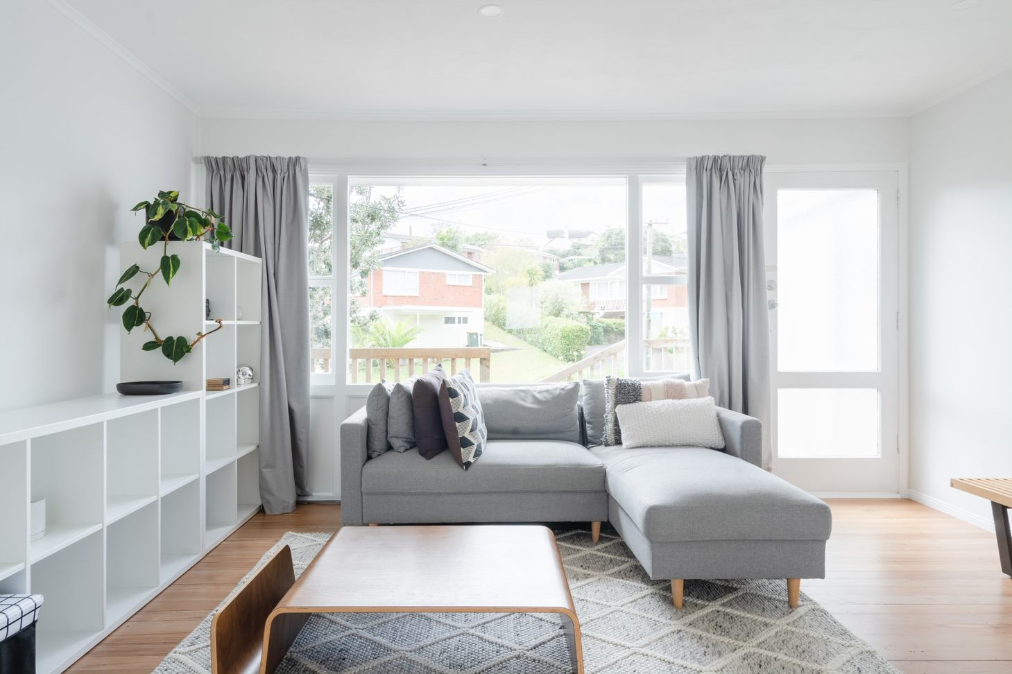 living room after full house renovation, Cockle bay, Auckland