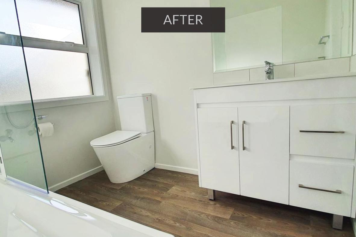 Bathroom after renovation - papakura, south Auckland