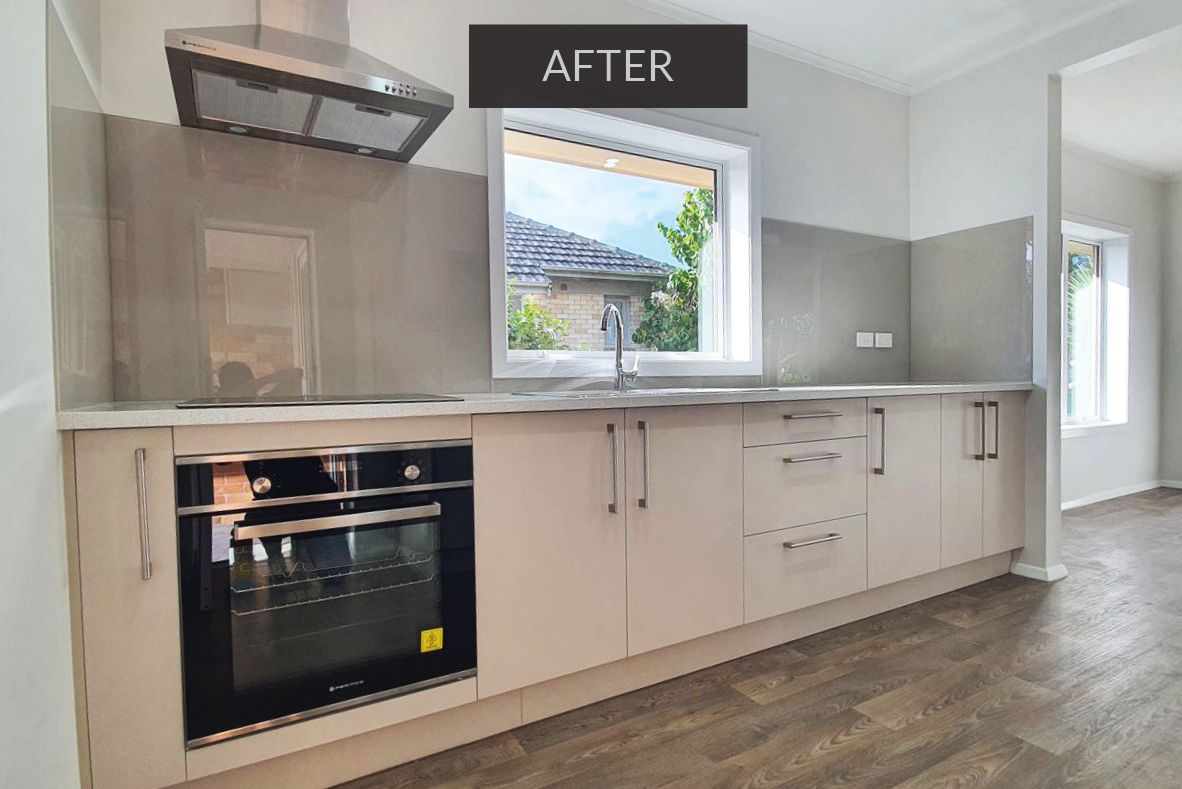 Kitchen after renovation - Papakura, south Auckland