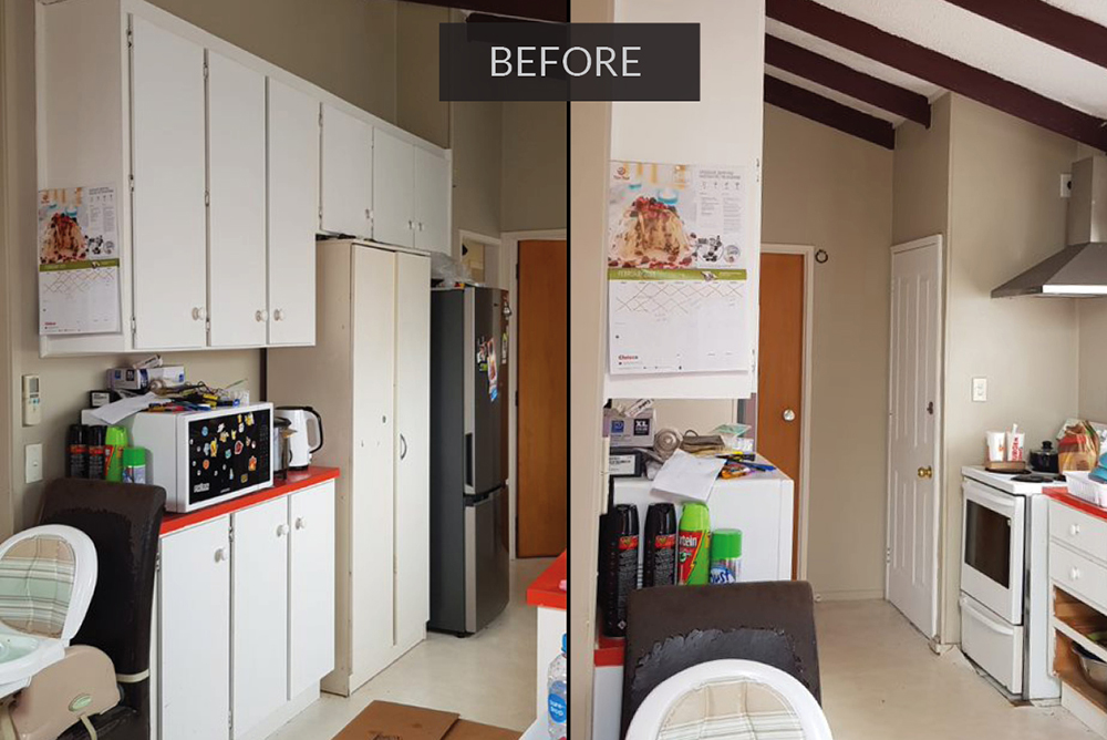 kitchen renovation - before kitchen remodel in south Auckland