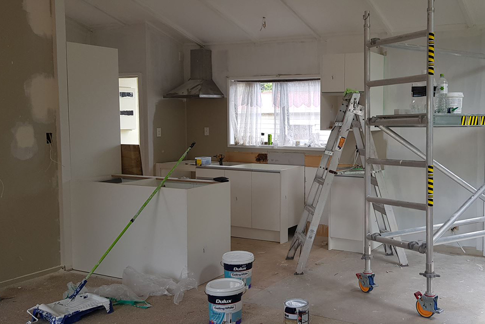 kitchen renovation project in progress - south Auckland