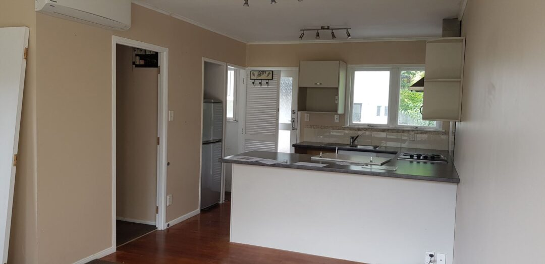 kitchen before renovation - Cockle Bay, east Auckland