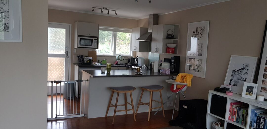 kitchen before full house renovation- Cockle Bay, east Auckland