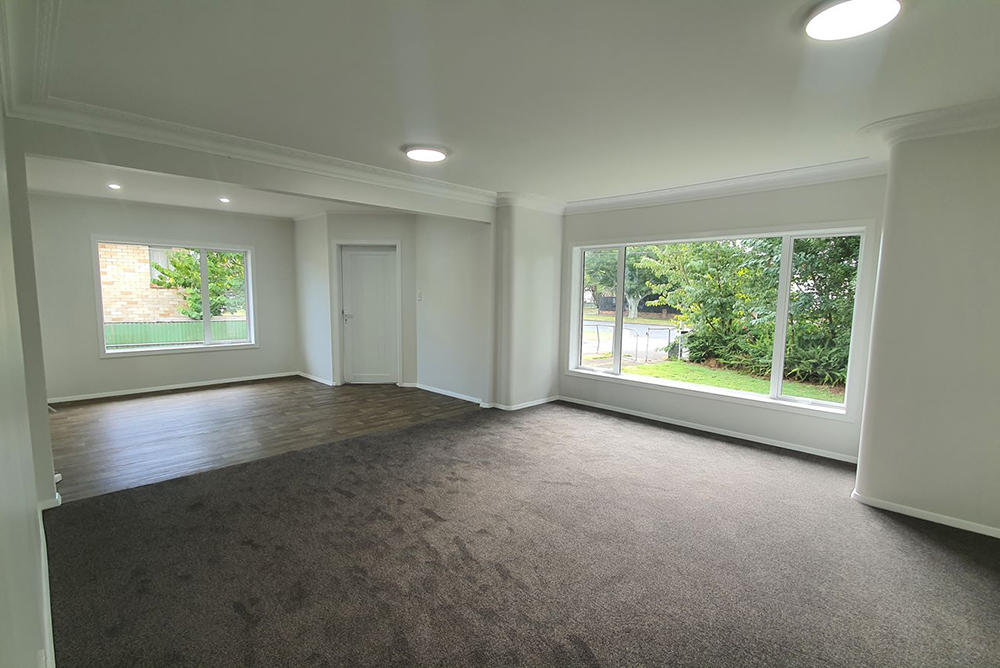 space opened after interior wall removal - south Auckland home renovation