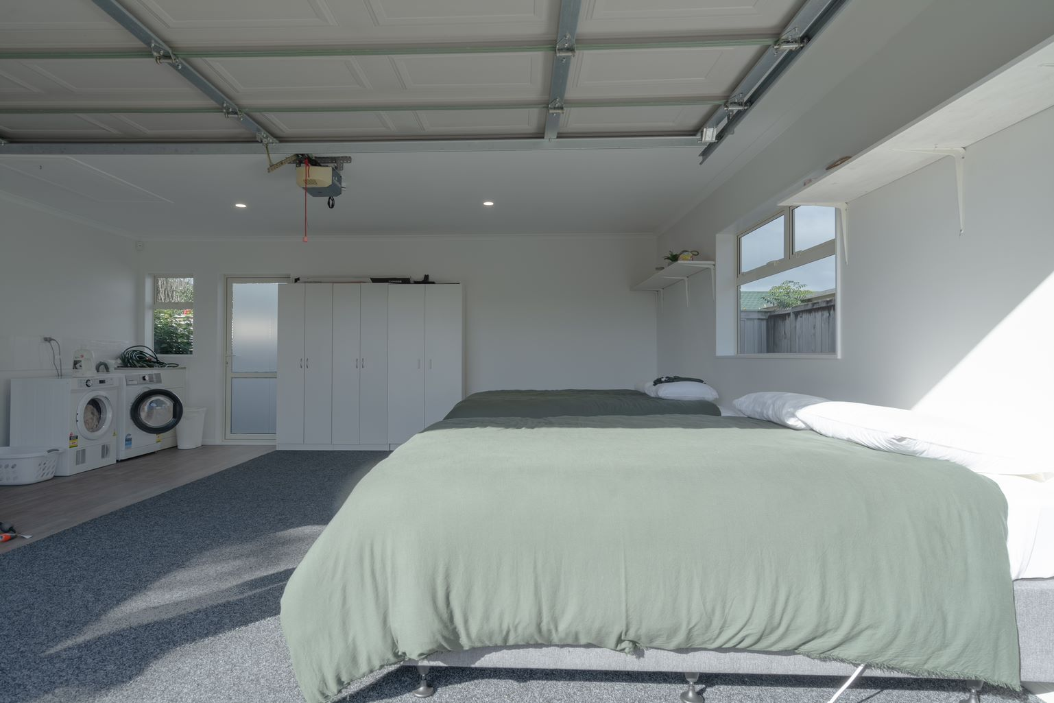 garage with laundry
