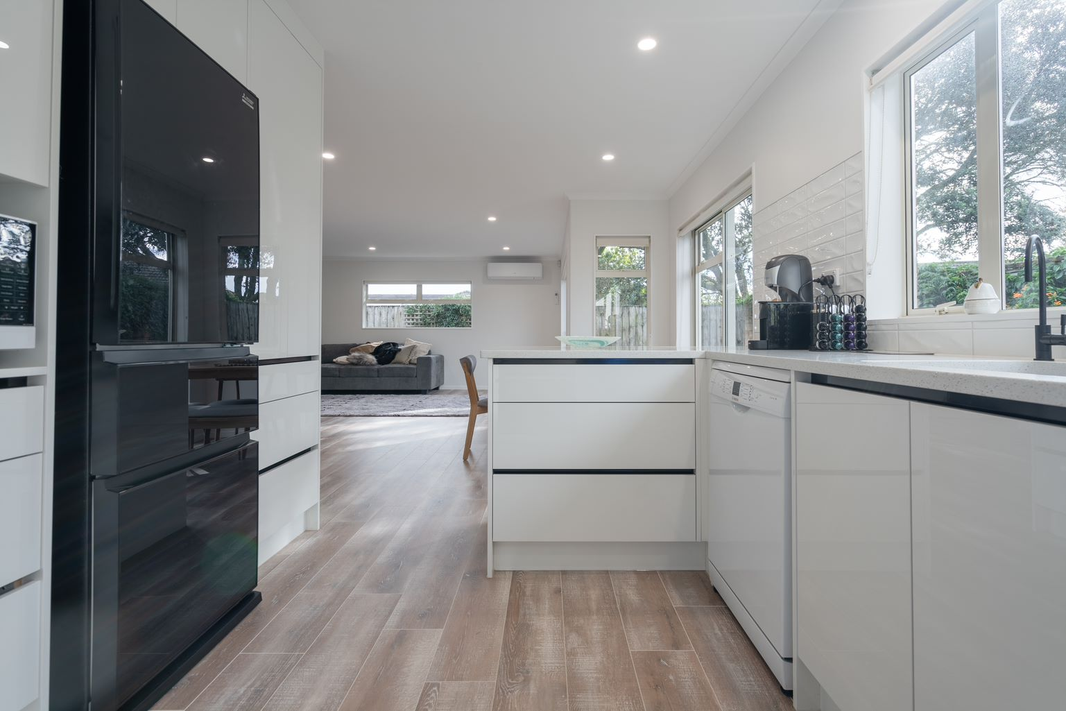 laminate flooring in kitchen and living areas