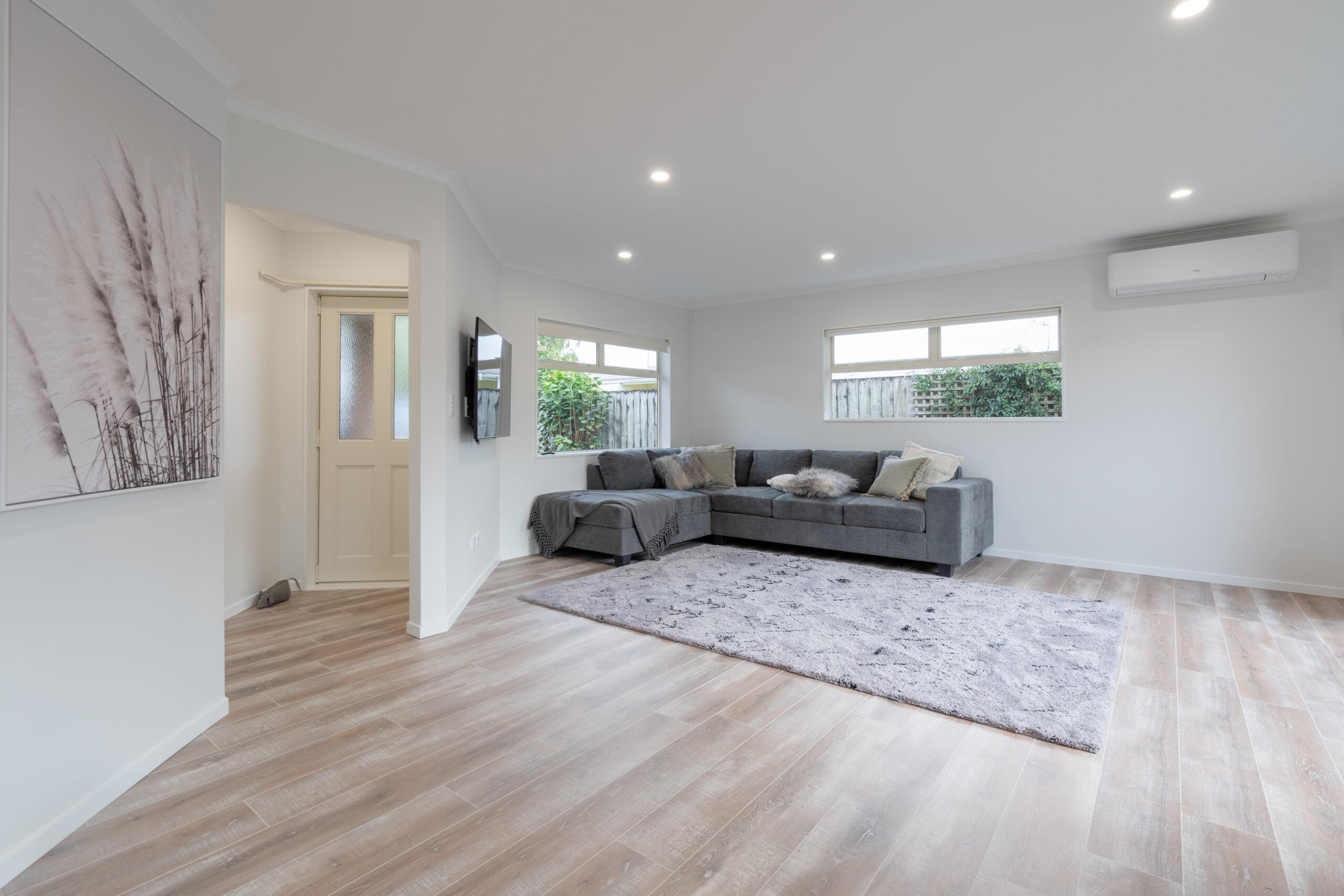 beach house renovation - living room