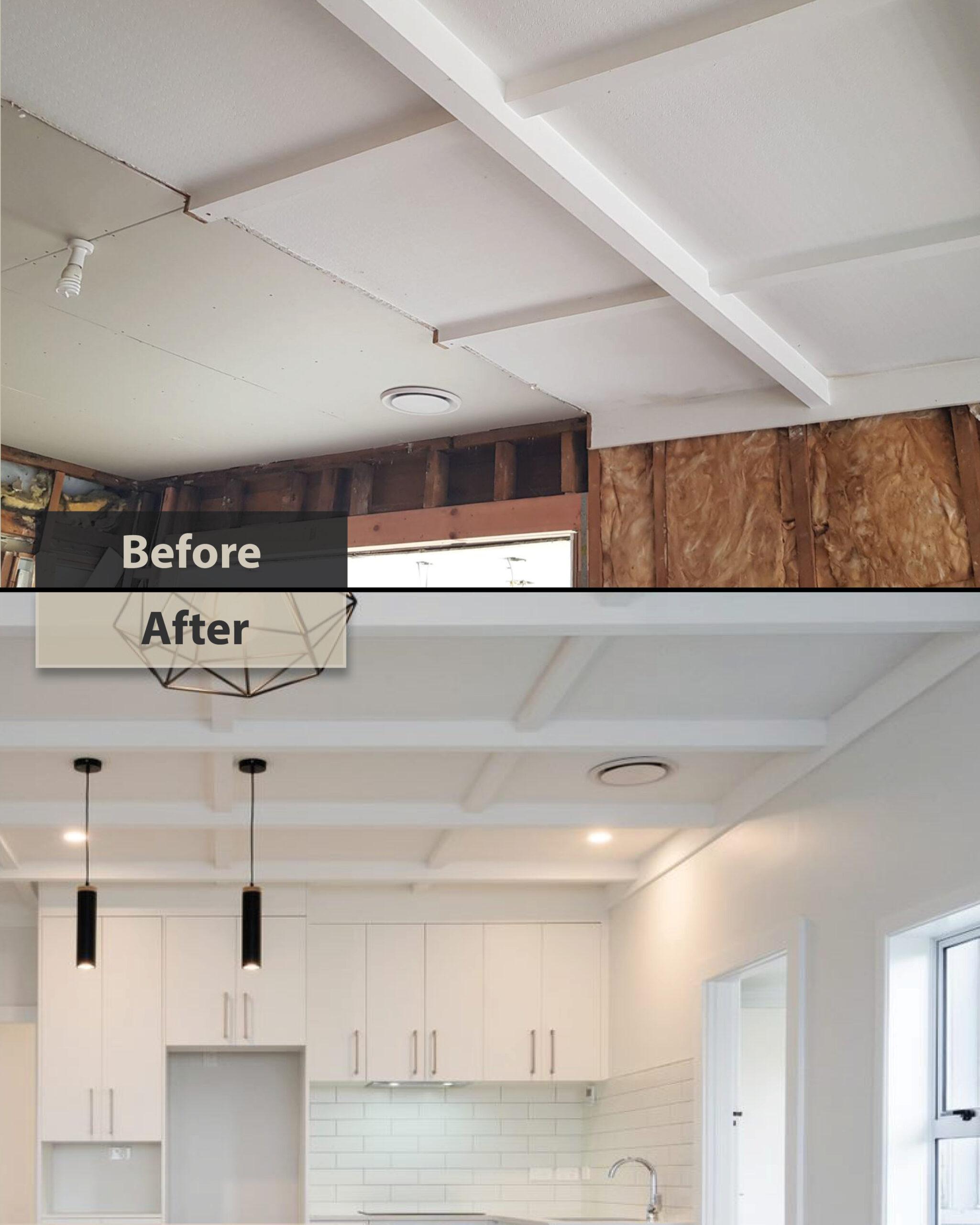 renovating ceiling - papatoetoe house renovation
