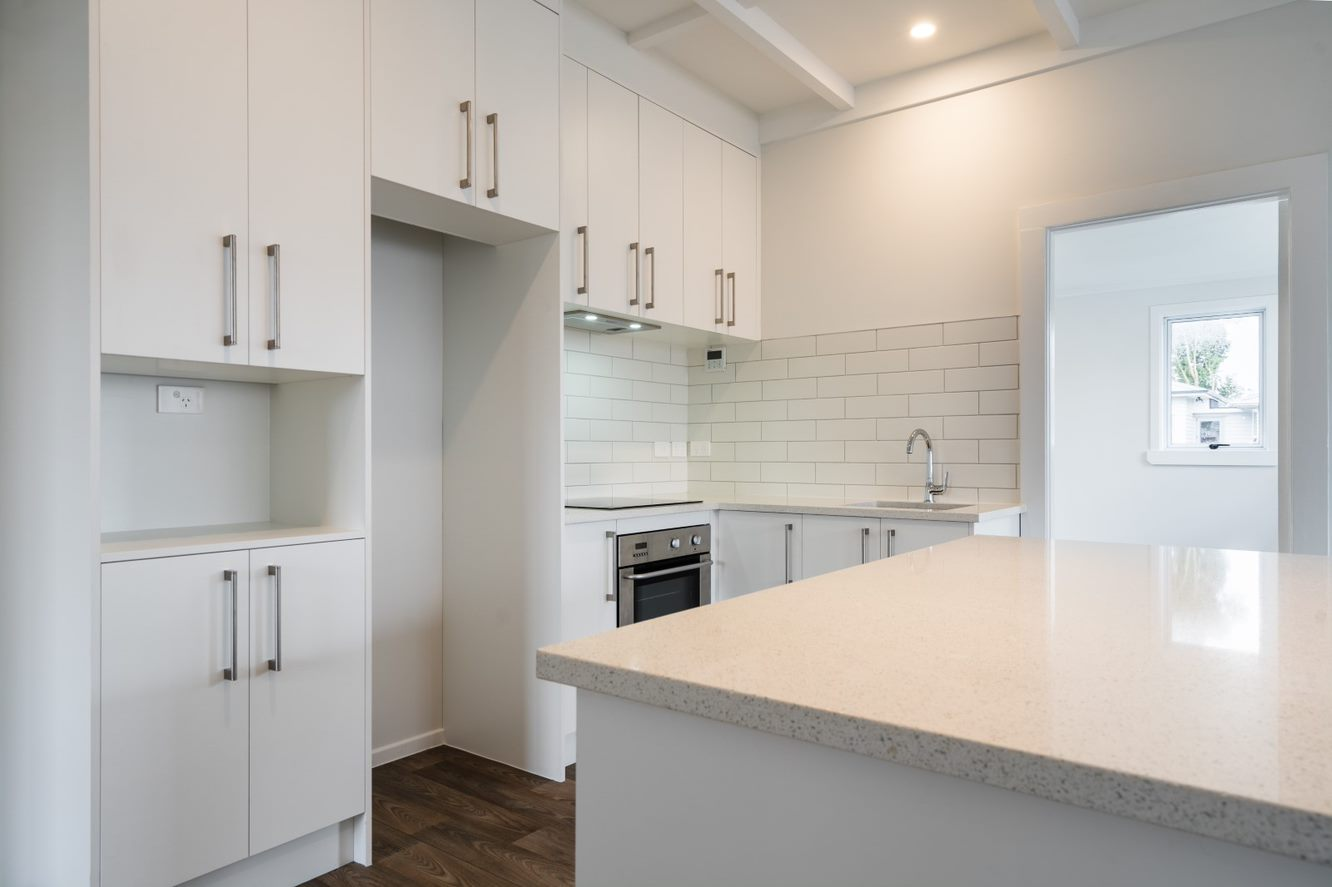 newly installed kitchen- home renovation Papatotoe