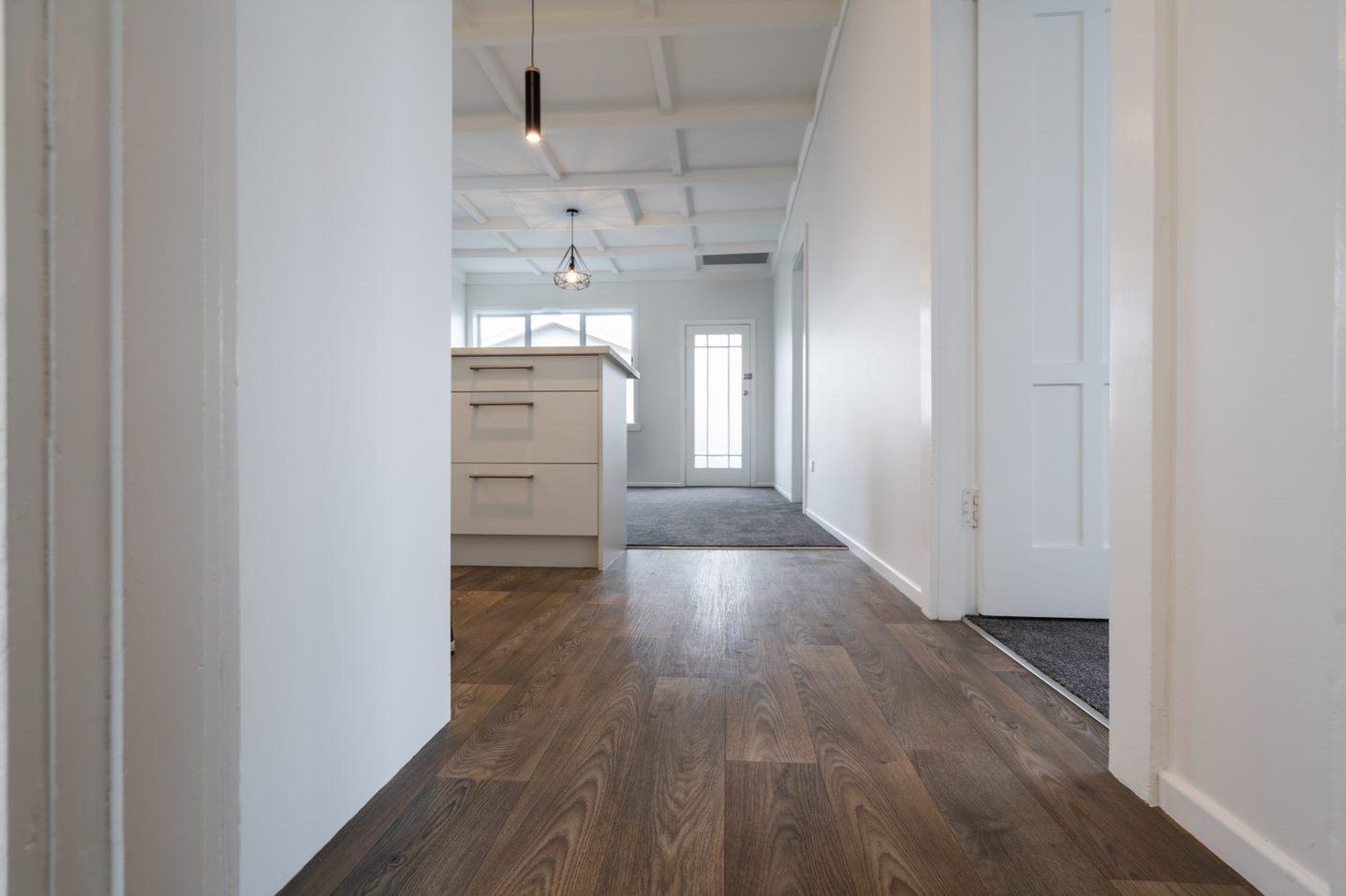 new vinyl flooring in Paptoetoe renovated home